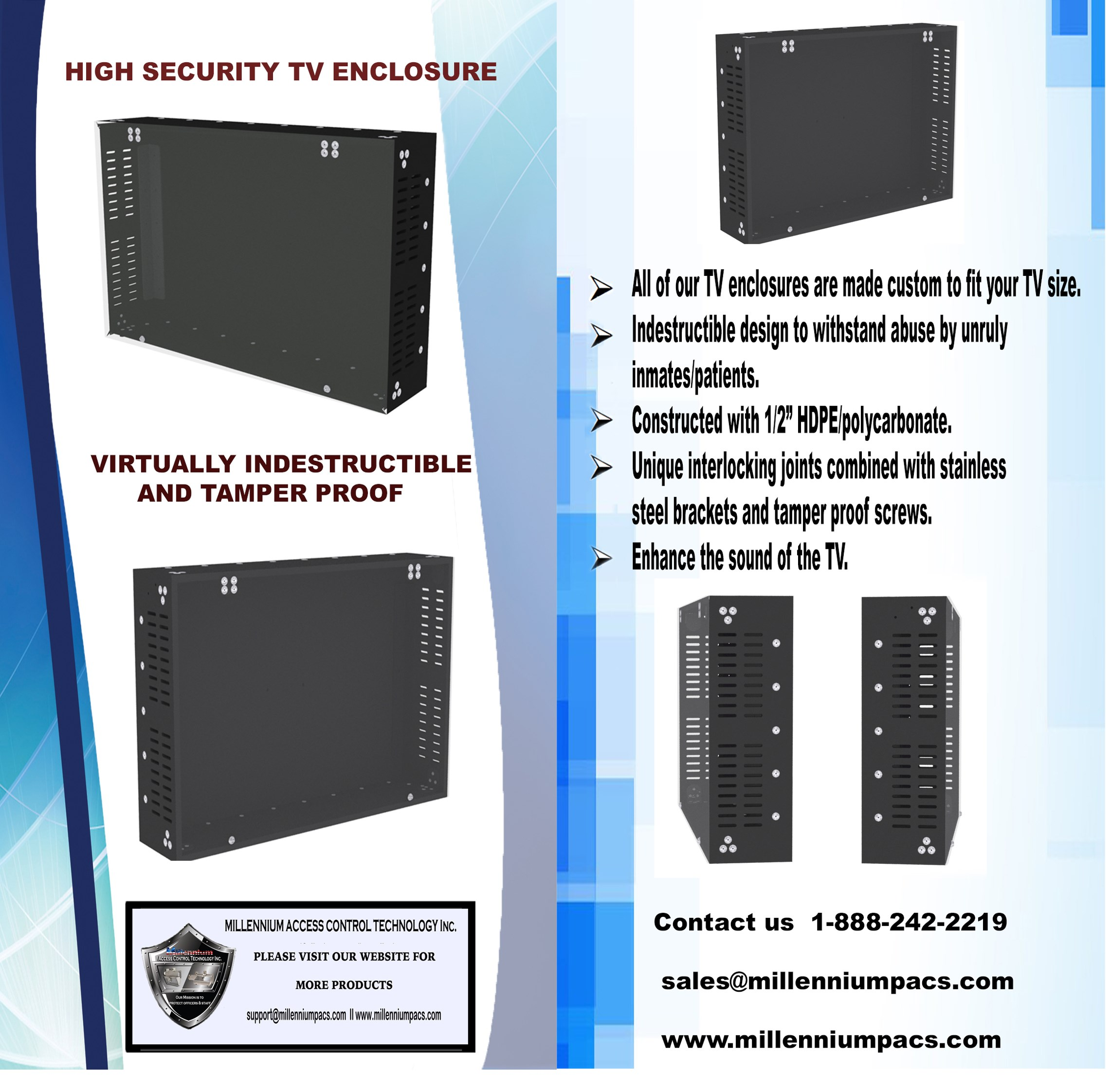 High Security TV Enclosure